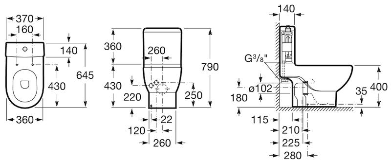 Reformar el baño - Inodoro de la gama Meridian de ROCA