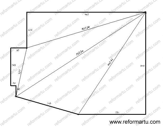 medir habitaciones de paredes no perpendiculares