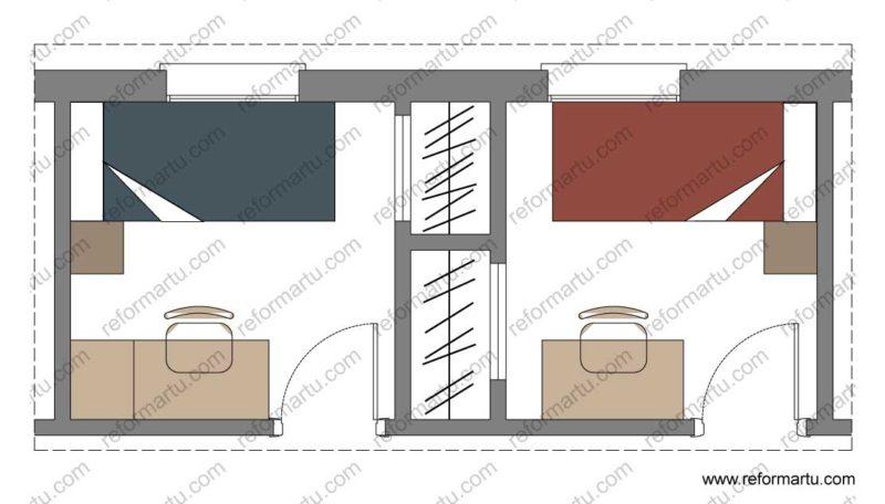 Reformar dos dormitorios creando armarios empotrados