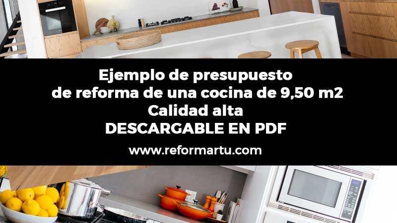 Ejemplo de presupuesto de reforma de cocina